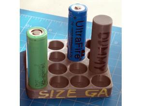 18650 Battery Size Gauge