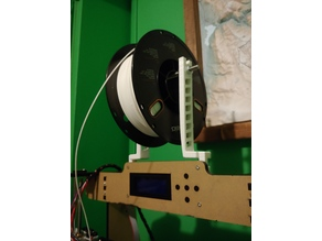 Anet A8 top mounted spool holder - stock rod