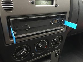 Car stereo removal tool