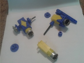 Geared MOTORs to Meccano and Lego Conversion - Kit Parts - UPDATED - AXLES and PEGS