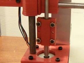 Z axis vinyl tubing clips