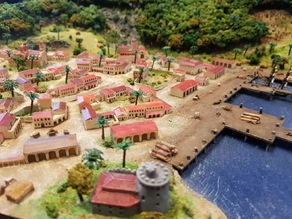 Miniature Buildings for 1:1200 Wargaming - Colonial Style