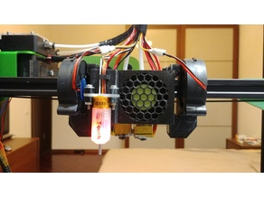 Tevo Tornado/Creality CR-10 Chimera Dual Extruder base module for K3D modular cooling system