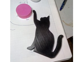 Cat silhouette for door frame