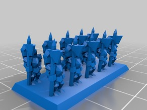 10mm Heavy Halberdier Warmasters