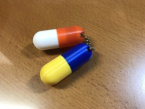 Capsule Keyring  with hanging slot