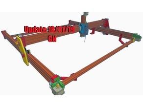 V-slot Laser,CNC, frame with internal belt.