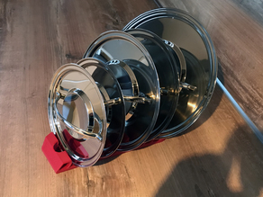 Cookware lid stand
