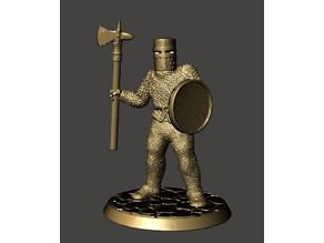 28mm Knight of Serbia Miniature - Standing Dismounted