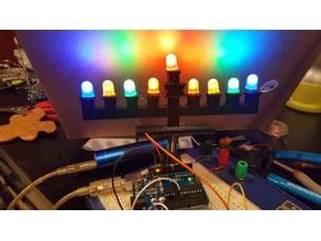 Menorah for 5mm LEDs
