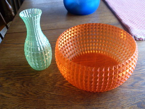 Faceted Bowl and Vase