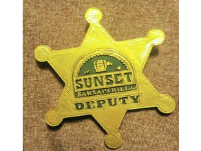 Sunset Sarsaparilla Deputy Badge