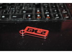 "Keychain with ""Би-2"" logo"