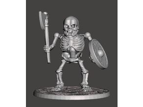 Orc Skeleton Warrior - Axe & Shield