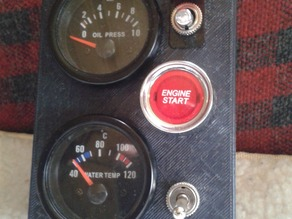 Controlpanel for engine