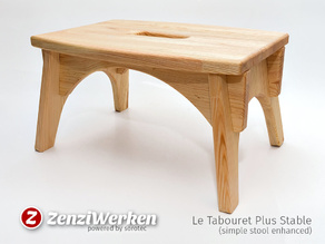 Le Tabouret Plus Stable (simple stool enhanced) cnc