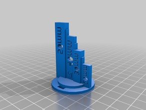 Scale for 3D designs and prints 20-50mm