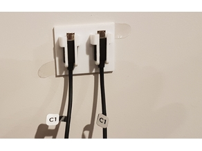Vive Controller Charge Cable holder