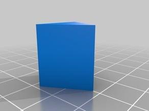 Trigonal prism mineral model