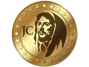 Jesus Coin (Cryptocurrency) Keychain And Logo