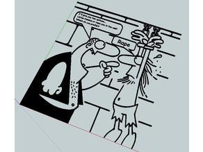 comics anti-Cumbia poster (humor)