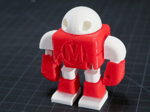 Maker Faire Robot Action Figure / Two Color / Dual Extrusion