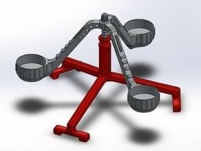 Pendulum Candle Holder 2 (Porta velas de Péndulo para 3 velas de Té)