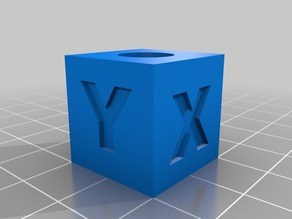 20mm calibration cube with hole 10mm