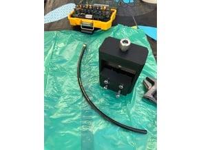 Bicycle brake hose barb insertion tool