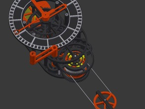 3D printed mechanical Clock with Anchor Escapement (STL files)