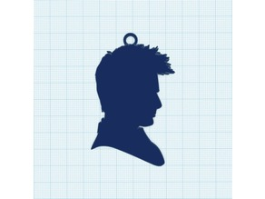 10th doctor silhouette keychain