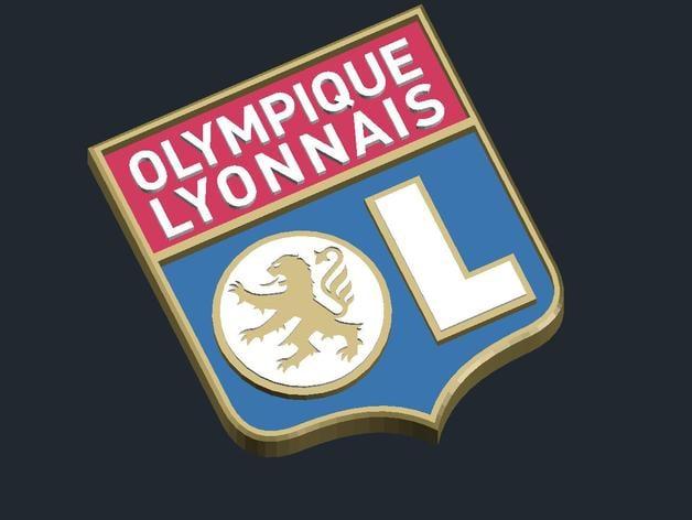Olympique lyonnais logo by csd salzburg thingiverse - Logo olympique lyonnais ...