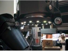 LED light ring holder for actioncam mounts