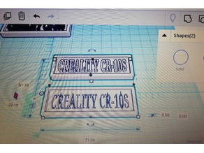 Creality CR-10S Plaque