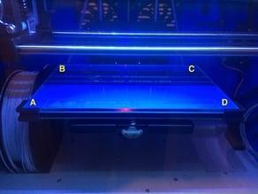 Glass Plate Corner Brackets for Flashforge Inventor 3D Printer (Remix)