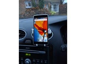 Phone holder for Focus or Leaf, Portrait or Landscape, easy to modify