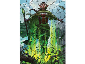 Nissa, Who Shakes the World - stained glass - litho