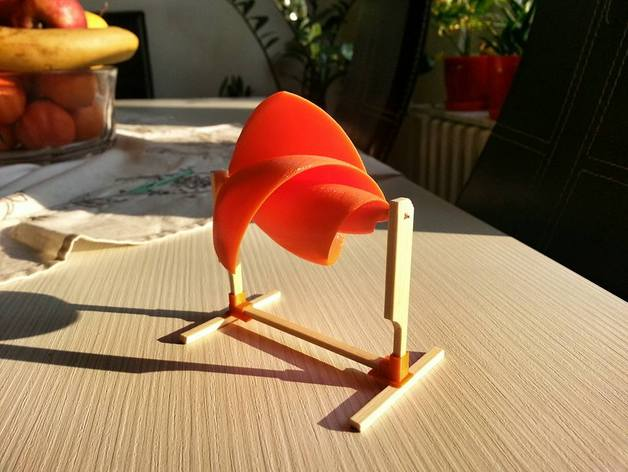 Archimedes Windmill with airfoil design and generator by akolov