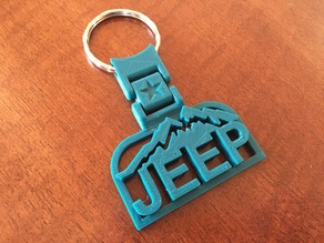 Jeep Mountain  Keychain