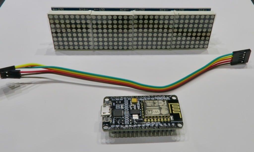 ESP8266 Matrix Display Case by wabbitguy - Thingiverse