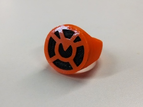 Orange Lantern Ring for Dual Extrusion
