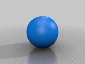 Lithophane / 3d model of Pluto