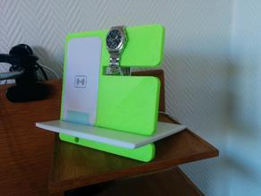 Bedside charger & watch hanger