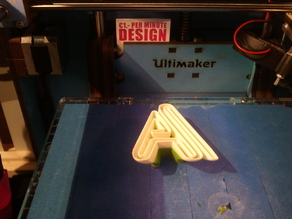Alphabet twisted on Ultimaker