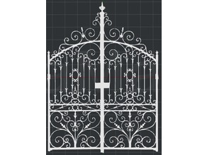 Wrought Iron Gate 2D Wall Art