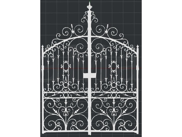 Wrought Iron Gate 2d Wall Art By Dtm2477 Thingiverse