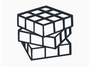 Twisted Rubiks Cube Wall Art
