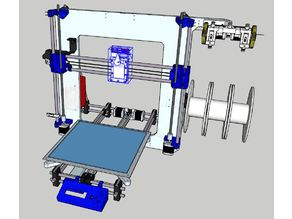 Custom Prusa I3 printer with easy extruder change