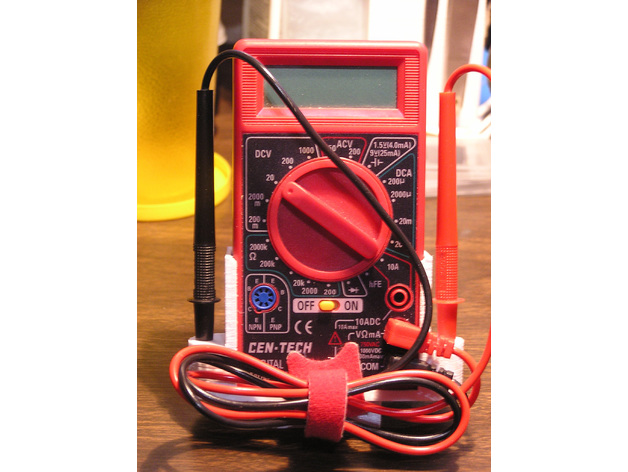 Harbor Freight Multimeter Holder by FlemingWR - Thingiverse