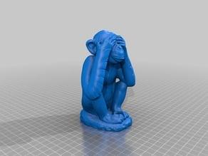 Scimmia saggia (wise monkey) 3d scan